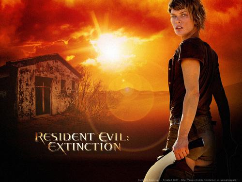Milla Jovovich karatasi la kupamba ukuta called Resident Evil: Extinction