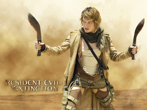 Milla Jovovich karatasi la kupamba ukuta titled Resident Evil: Extinction