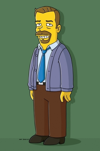 Ricky Gervais in The Simpsons