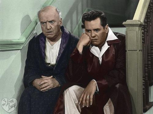I Love Lucy wallpaper entitled Ricky and Fred in color