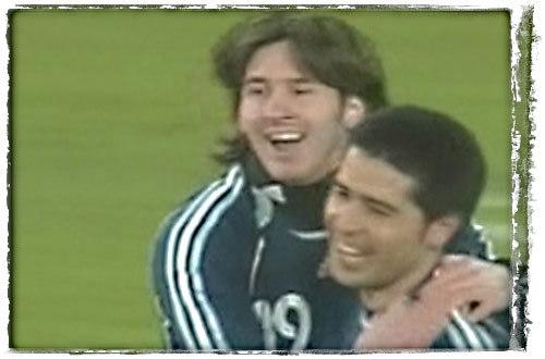Riquelme and Messi