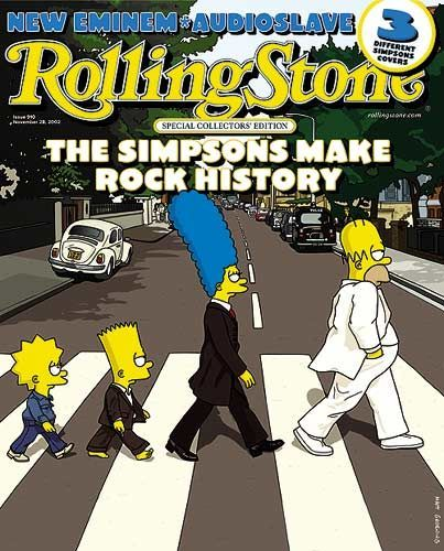 Rolling Stone Simpsons Covers