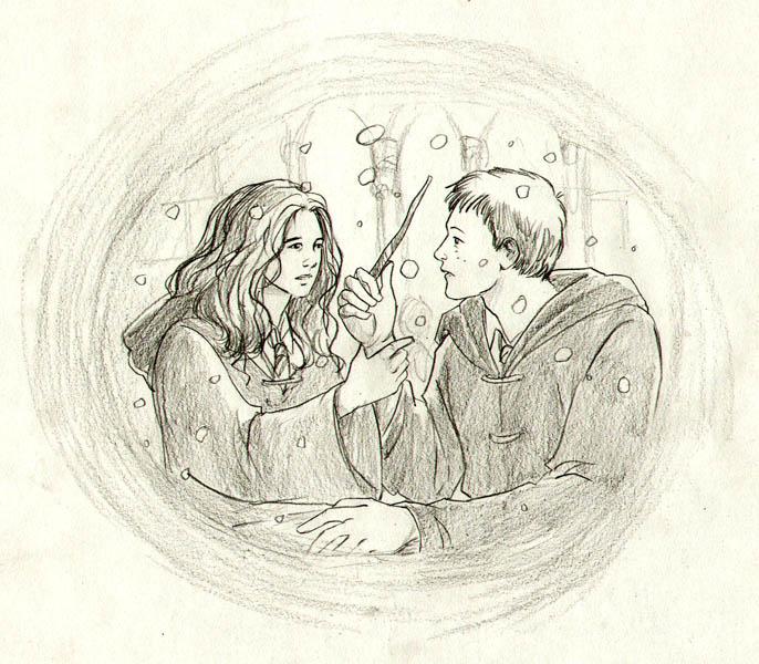 Ron/Hermione fan Art