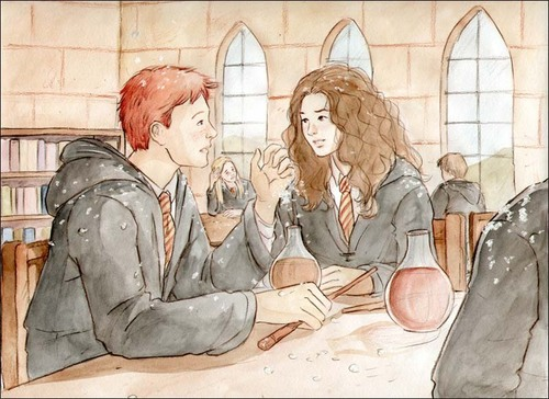 Ron/Hermione Fan Art - romione Fan Art