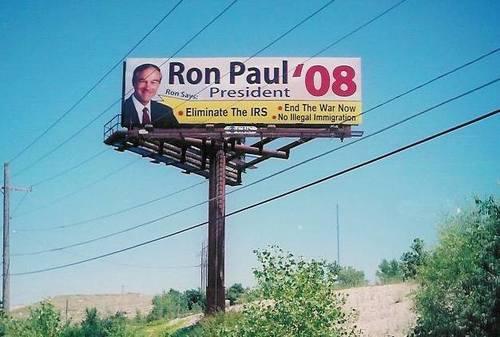 Ron Paul Billboard 2008