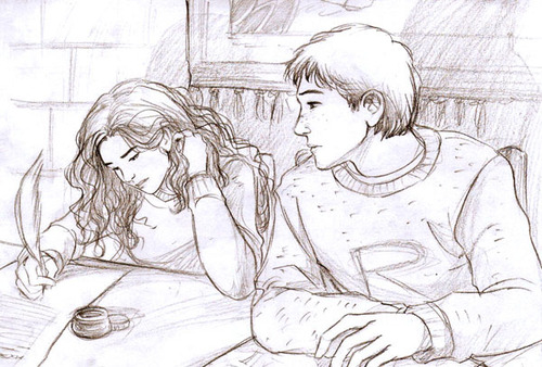 romione wallpaper titled Ron and Hermione