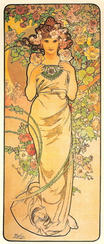 Alfons Maria Mucha wolpeyper titled Rose