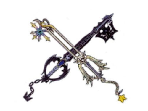 Kingdom Hearts wallpaper entitled Roxas' Keyblades