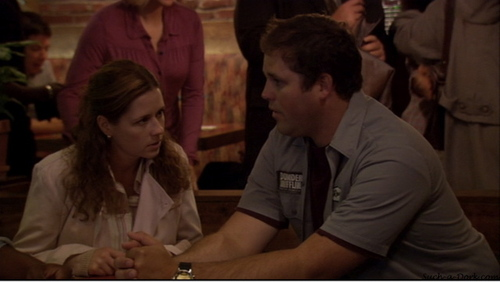 Roy and Pam in TThe Dundies