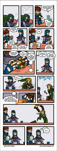 Rubik's Cube Comic - the-legend-of-zelda Fan Art