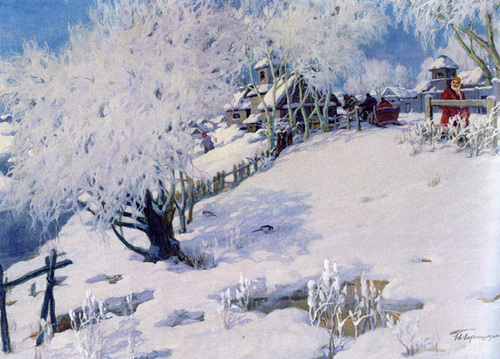 Russian Winter painting
