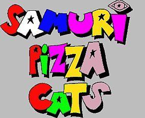 Samurai pizza gatos Logo