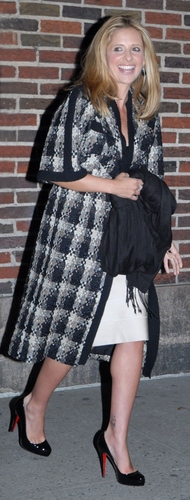 Sarah Arriving at Letterman