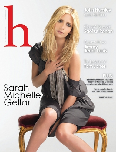 Sarah on cover of H Magazine