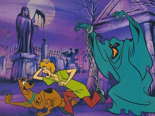 Halloween wallpaper entitled Scooby and Shaggy