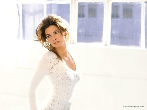 Shania Twain achtergrond titled Shania Twain