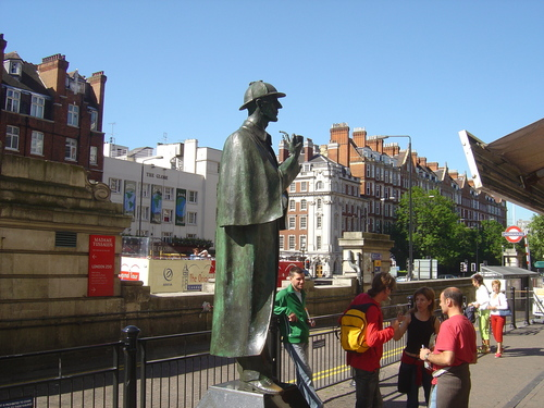 Sherlock Holmes Statue - london Photo