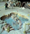 Sidewalk Chalk Drawings - modern-art photo