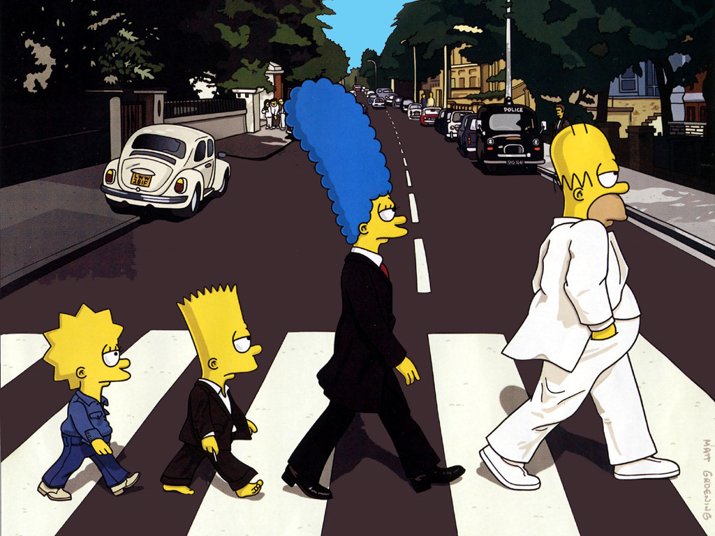 Simpsons Beatles