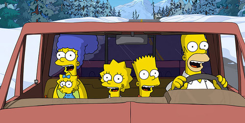 Simpsons in a Car