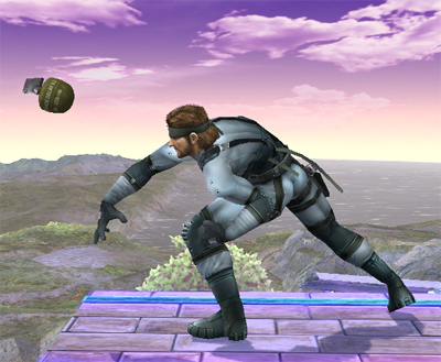 Super Smash Bros. Brawl karatasi la kupamba ukuta called Snake's special moves