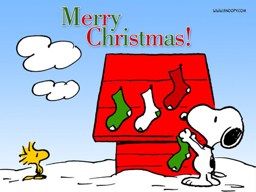 Peanuts wallpaper titled Snoopy Christmas