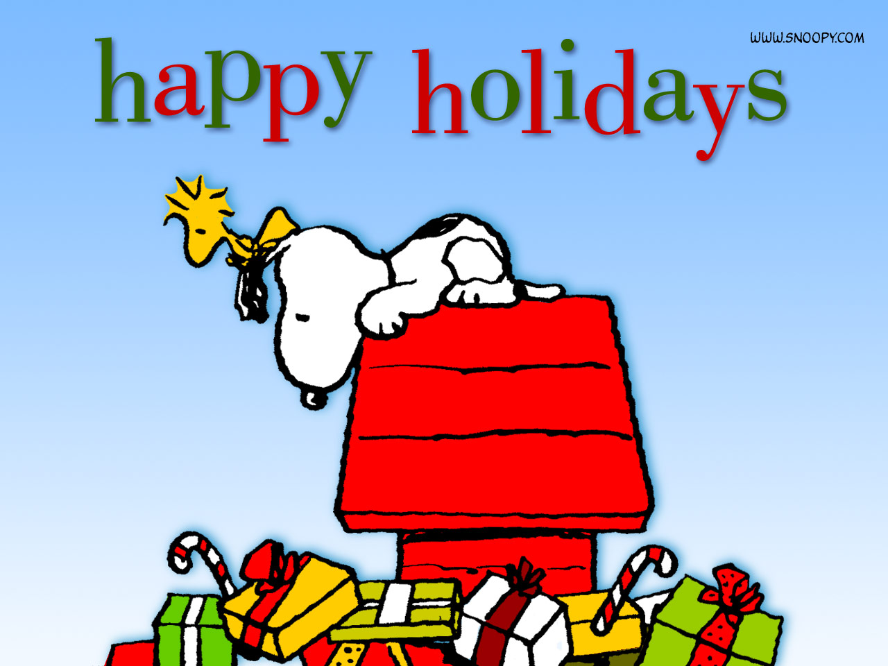 Snoopy Christmas - Peanuts Wallpaper - 171.5KB