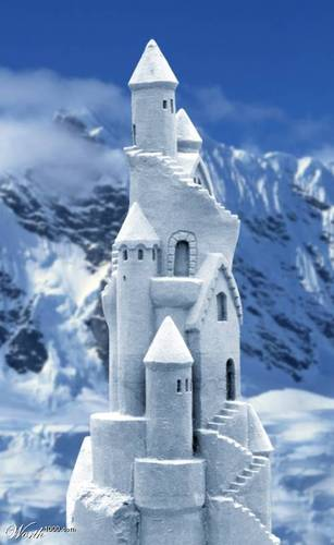 Winter wallpaper entitled Snow Castle
