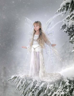 hadas fondo de pantalla entitled Snow Fairy