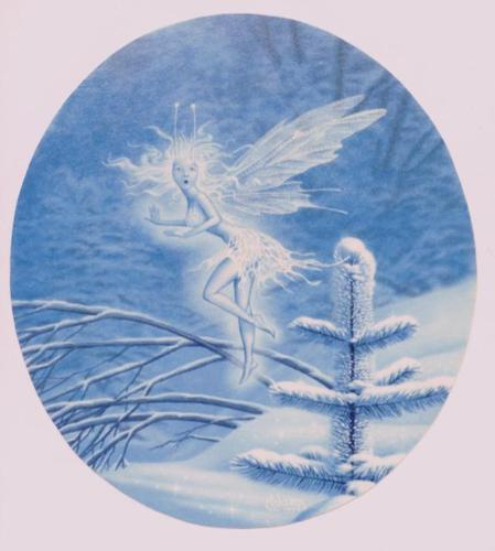 Fairies achtergrond entitled Snow Fairy