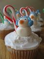 Snowman - cupcakes photo