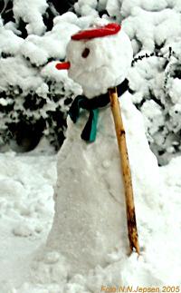 Snowman in Denmark