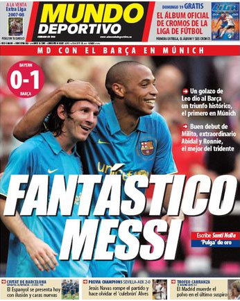 Soccer/Football Magazine Cover