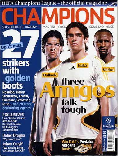 Soccer/Football Magazine Cover