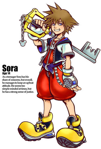 Kingdom Hearts kertas dinding called Sora