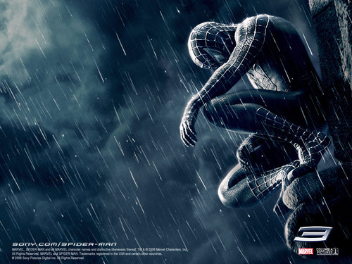 Spider-Man achtergrond entitled Spider-Man 3: The Dark Suit