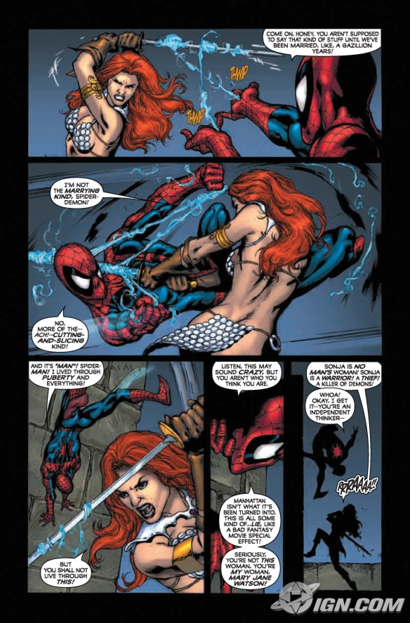 Marvel Comics Spider-Man/Red Sonja 2 Preview