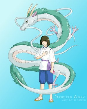 Spirited Away kertas dinding entitled Spirited Away