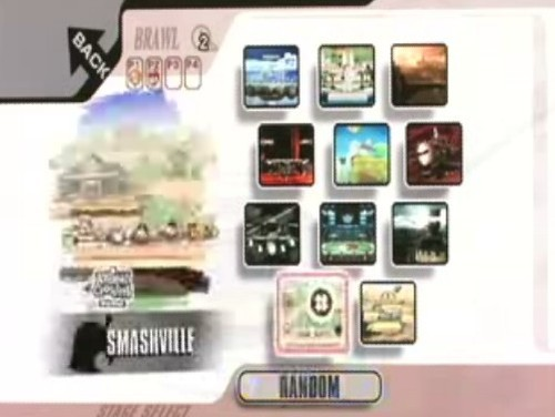 Stage Selection Screen