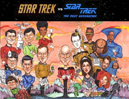 ngôi sao Trek Caricature