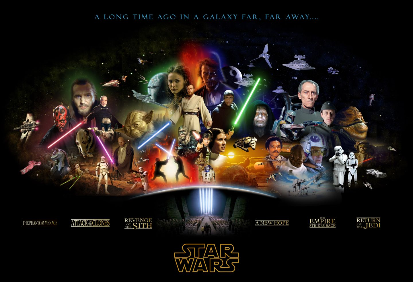 Star Wars Complete Saga Poster Fan Art 425795 Fanpop