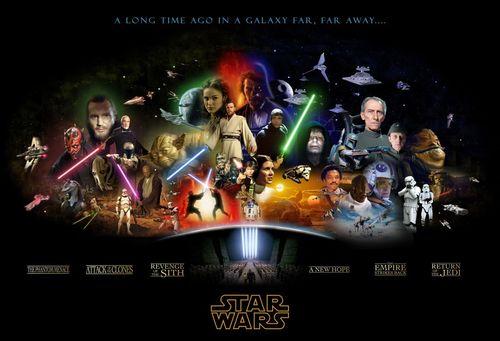 étoile, étoile, star Wars fond d'écran entitled étoile, star Wars Complete Saga Poster