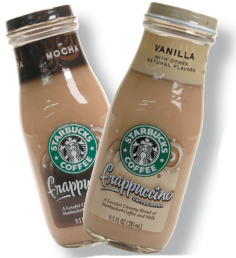 Starbuck's Coffee Frappuccinos