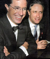 Stephen and Jon - the-colbert-report photo