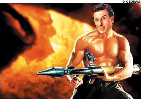 Stephen Colbert wallpaper entitled Stephen as Rambo