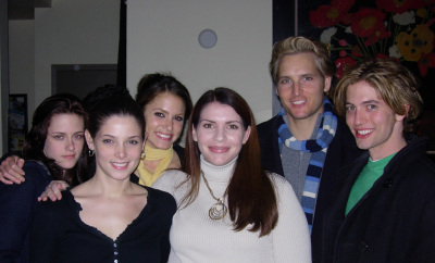 Stephenie Meyer with the cast
