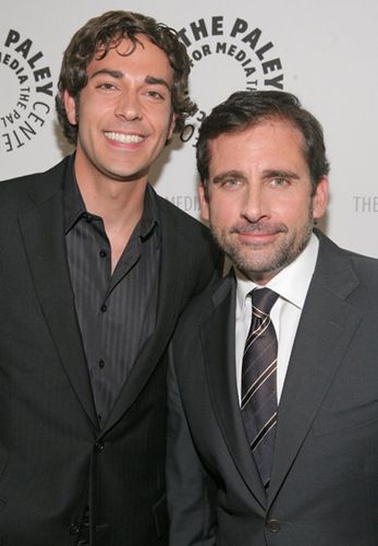 Steve Carell and Zachary Levi
