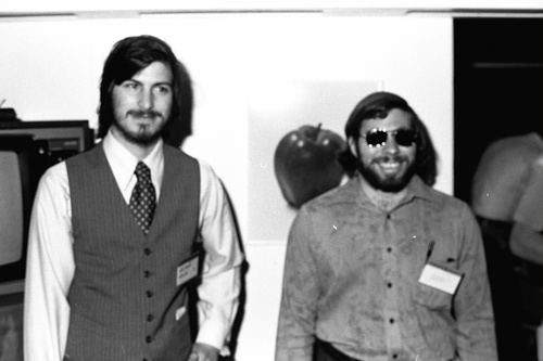 Steve and Woz - apple Photo