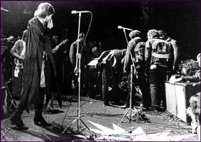 Stones at Altamont 1969