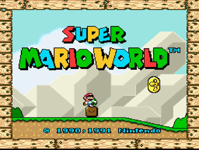 The 90s wallpaper entitled Super Mario World